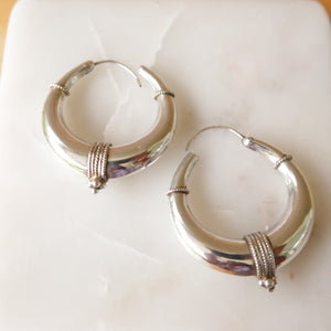Bali Sterling Silver Hoop Earrings