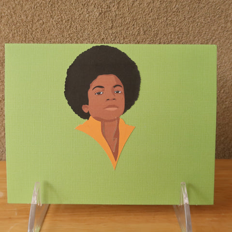 Young Michael Jackson notecard