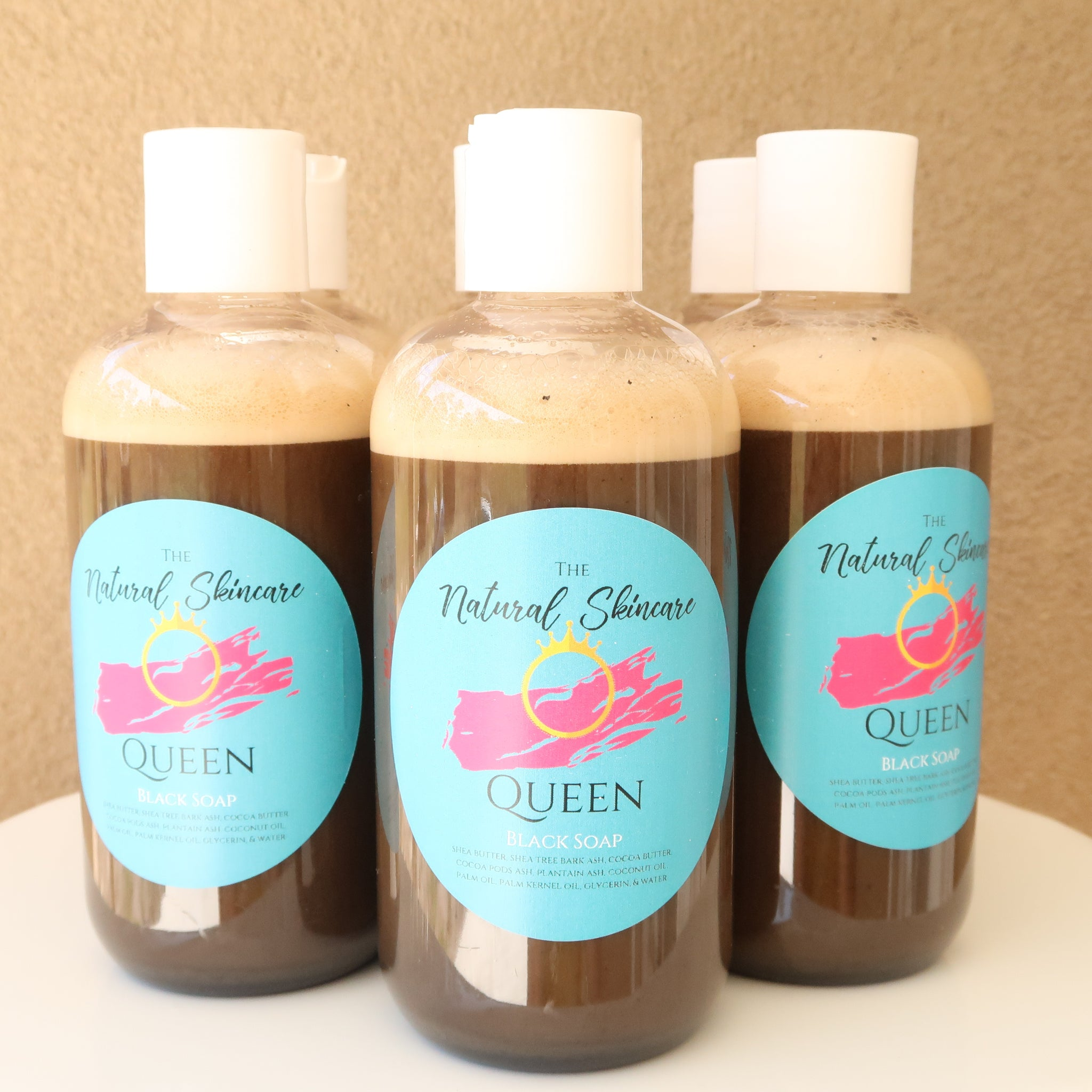 Natural Skincare Queen Liquid African Black Soap Skin Cleanser