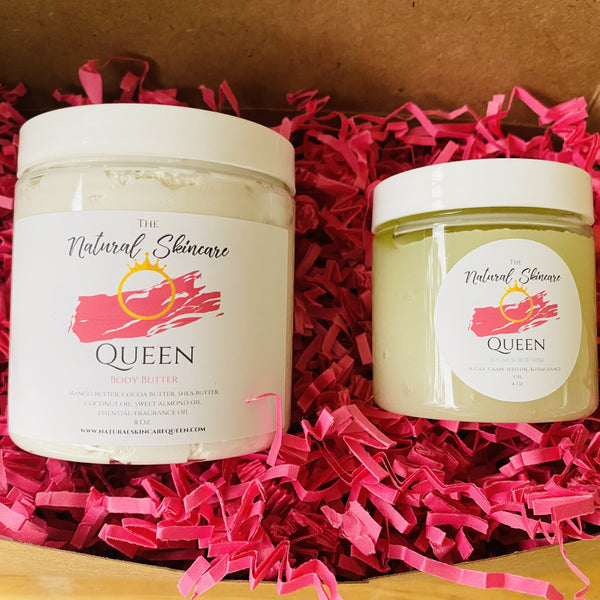 Natural Skincare Queen Scrub and Rub Holiday Gift Set