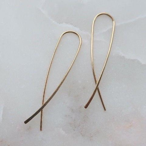 Ribbon Fish Gold Wire Handmade Earrings