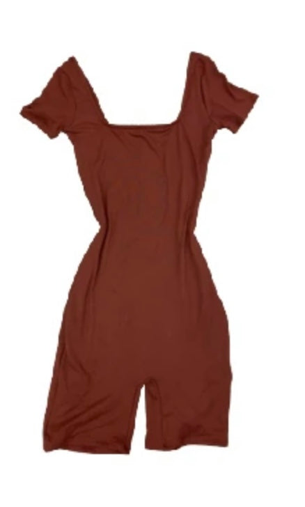 Double Lined Red Bean Romper