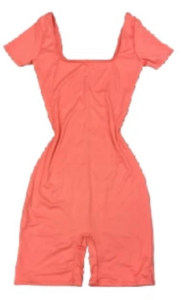 Double Lined Coral Romper