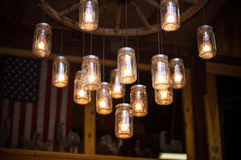 interior barn lighting mason jar chandelier