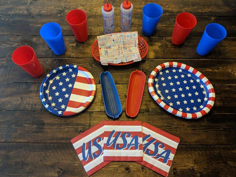 picnic decorations red, white & blue