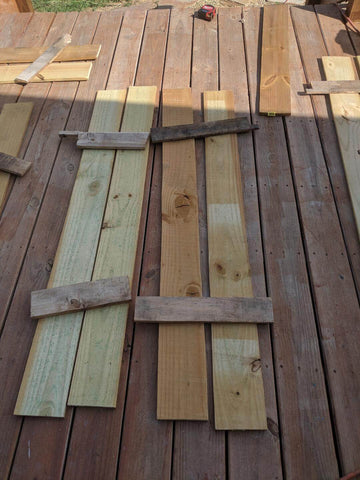 Hand made Wooden Window Shutters
