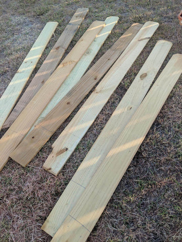 wooden fence pickets