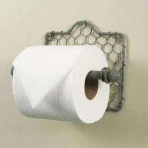 chicken wire coop toilet paper holder