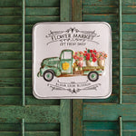 Flower Market Truck Sign