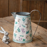 Metal Floral Pitcher