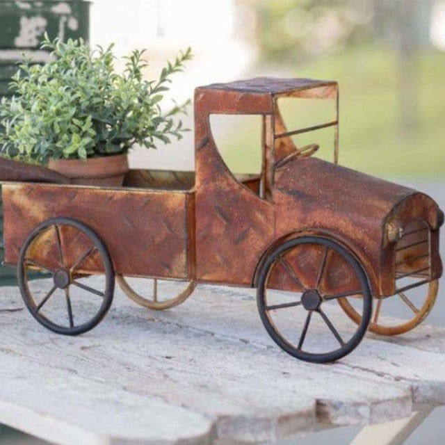 Rusty Pickup Planter