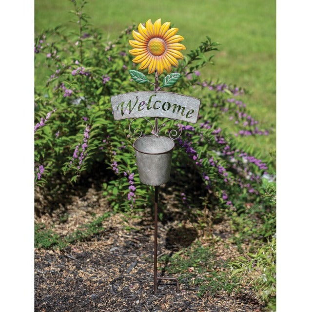 Sunflower Garden Stake