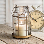 Brass Candle Cage Chimney Living Farmhouse Decor