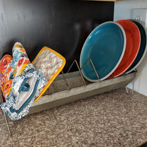 Vintage Chick Feeder Dish Rack