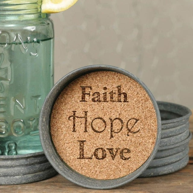 Faith, Hope, Love Coasters