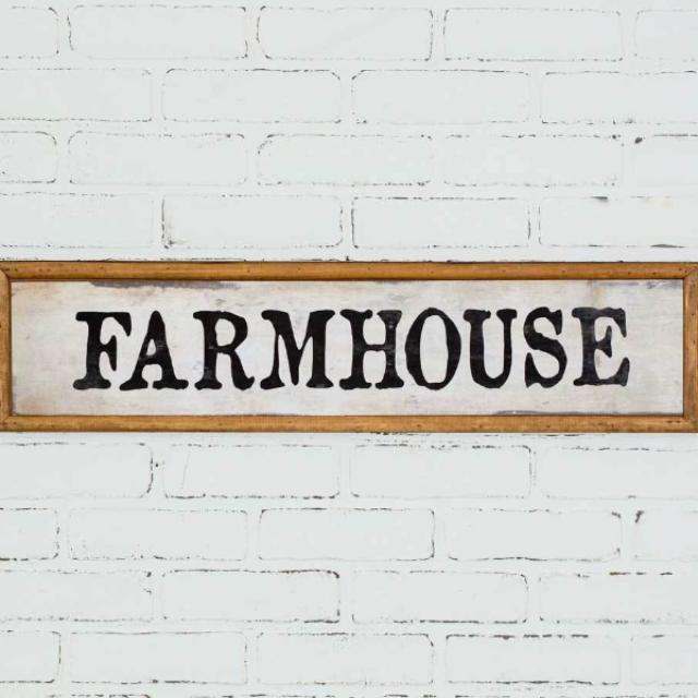 Wood Farmhouse Plaque