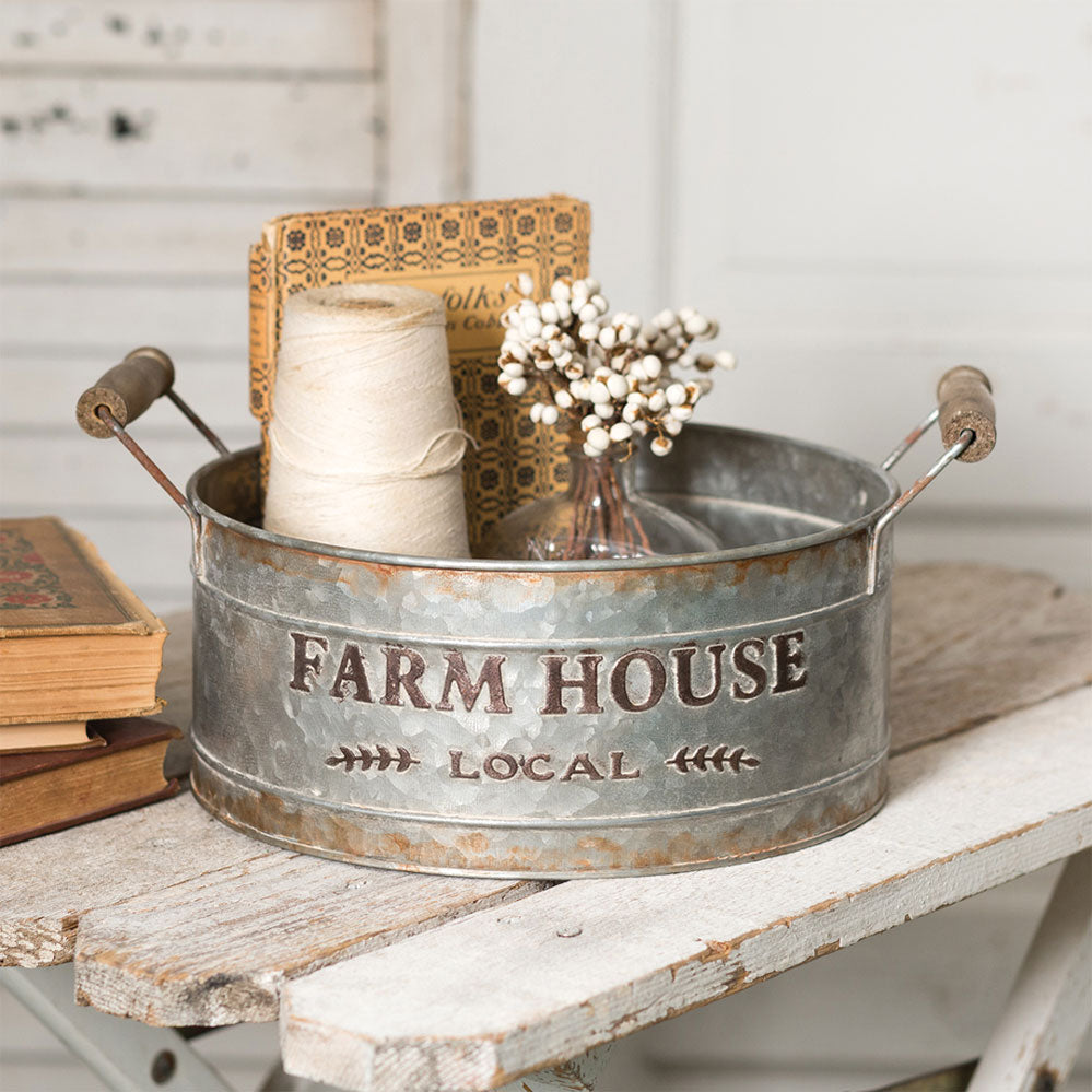 Farmhouse Tin Bin