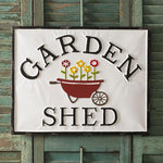 Tin Garden Shed Indoor Outdoor Sign