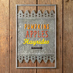 Fall Metal Sign
