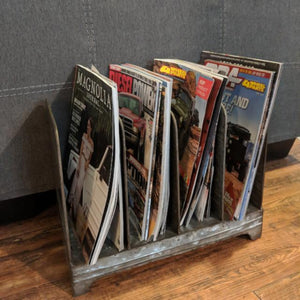 metal magazine rack bathroom living room storage