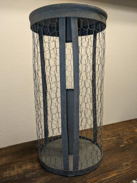 chicken wire paper towel kitchen holder