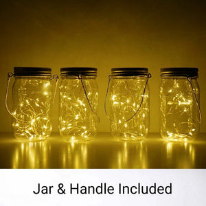 Mason Jar, Light & Handle Set
