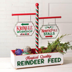 Reindeer Feed Sign