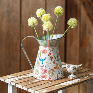 Tall Floral Pitcher