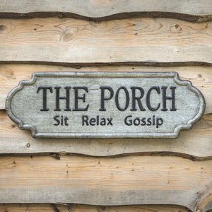 Tin Metal Porch Sign