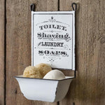 Antique Vintage Style Toilet, Shaving & Laundry Wall Mount Soap Tub Holder Sign