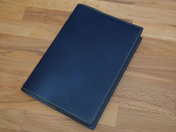 A5 Leather Cover / Dark Blue