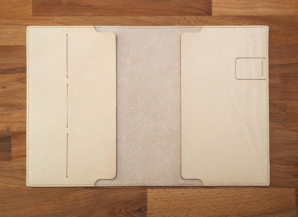 A5 Leather Cover Undyed