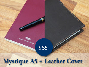 ** Combo Sale ** A5 Leather Cover + Mystique A5