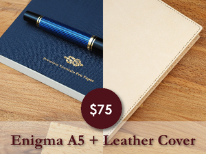 ** Combo Sale ** A5 Leather Cover + Enigma A5 V5 Notebook