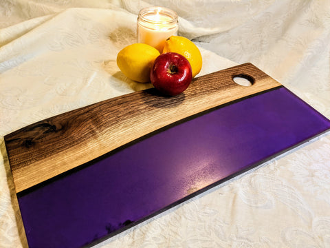 Black Walnut & Violet Serving Board