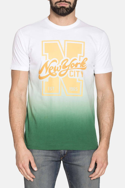 NEW YORK CITY WHITE YELLOW GRAPHIC TEE
