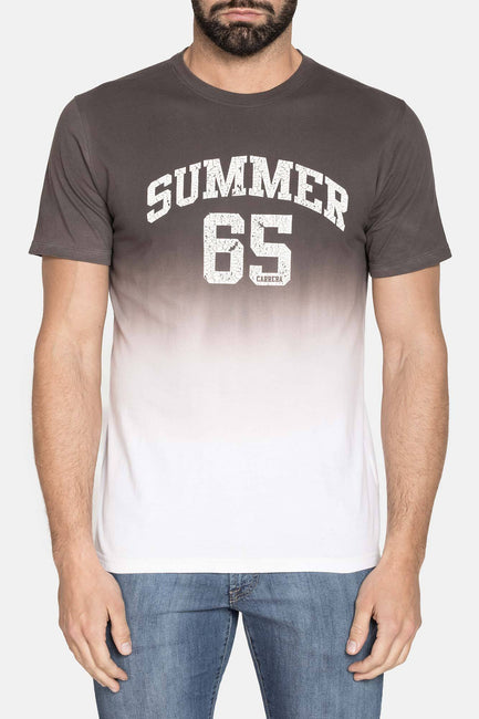 SUMMER 65 GREY GRAPHIC TEE