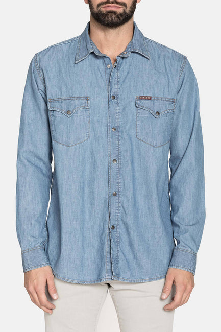 SHAWN LIGHT BLUE DENIM SHIRT