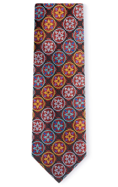 JAMES RED GEO TIE