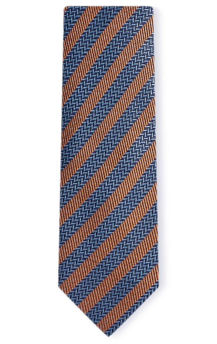 BENJAMIN ORANGE STRIPE TIE