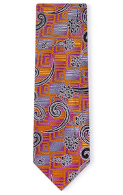 JACOB ORANGE PAISLEY TIE