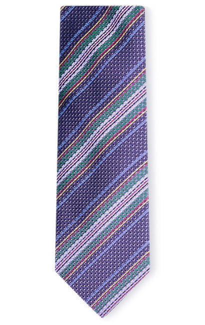 JACKSON PURPLE STRIPE TIE