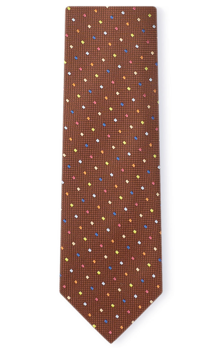 ABE BROWN DOT TIE
