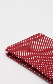 RED POLKA POCKET SQUARE