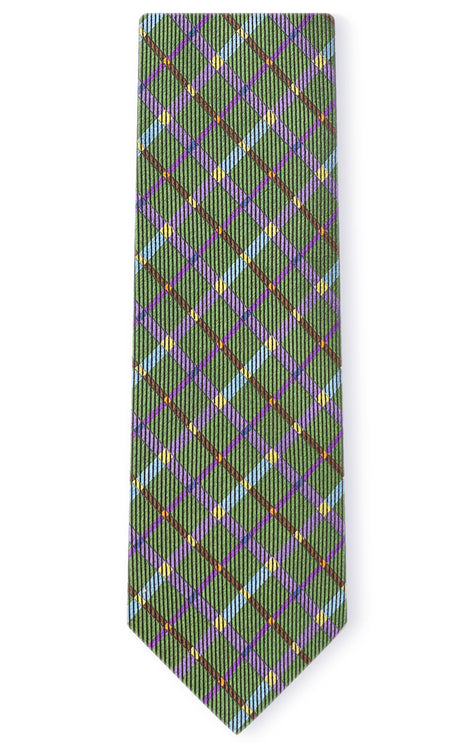 ROY GREEN PLAID TIE