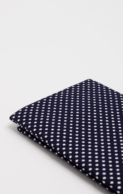 NAVY POLKA POCKET SQUARE