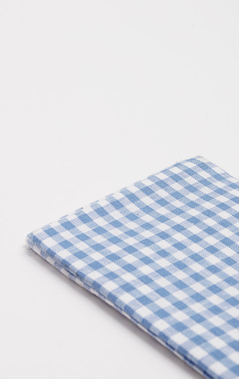 LIGHT BLUE PLAID POCKET SQUARE