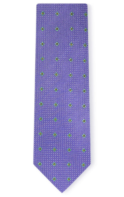 SEBASTIAN PURPLE DOT TIE
