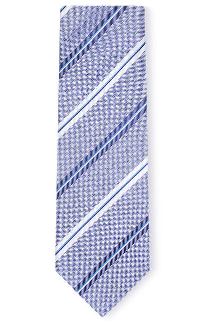 DAVID BLUE STRIPE TIE