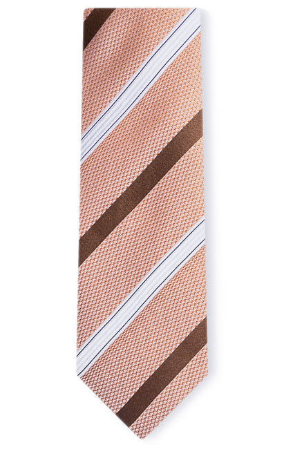 JOSEPH ORANGE STRIPE TIE